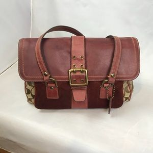 Coach Special Edition Burgundy Tote Satchel